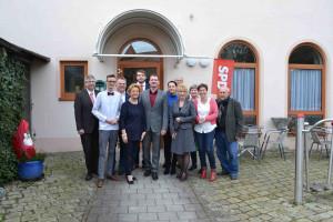 Mitglieder des Röthenbacher Ortsvereins mit Landtagskandidatin Andrea Lipka