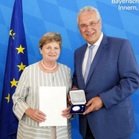 Stadträtin Ullrike Knoch mit Innenminister Herrmann